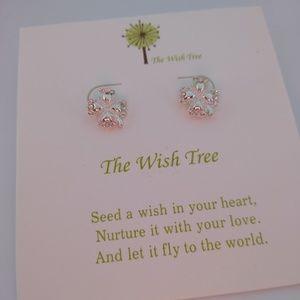 Lucky! Four Leaf Clover Stud Earrings